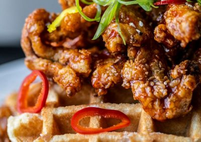 VU Rooftoop - Chicken & Waffles